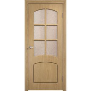 Дверь VERDA Кэрол остекленная 2000х800 ПВХ Дуб дверь verda кэрол остекленная 2000х800 пвх миланский орех