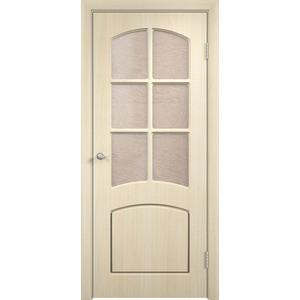Дверь VERDA Кэрол остекленная 2000х900 ПВХ Дуб белёный дверь verda стиль глухая 2000х900 шпон дуб белёный