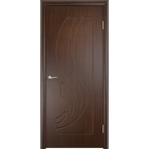 Дверь VERDA Лиана глухая 2000х600 ПВХ Венге дверь межкомнатная из массива классическая м16 2000х700х40 глухая венге т 08