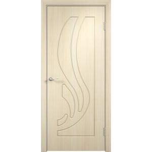 Дверь VERDA Лиана глухая 2000х600 ПВХ Дуб белёный дверь verda омега глухая 2000х600 пвх дуб белёный