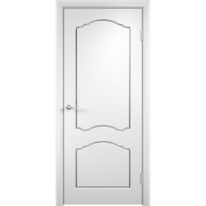 Дверь VERDA Лидия глухая 1900х550 ПВХ Белый дверь verda каролина глухая 2000х900 шпон дуб