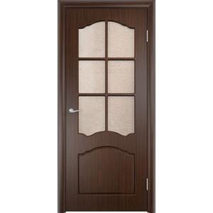 Дверь VERDA Лидия остекленная 1900х550 ПВХ Венге дверь межкомнатная ламинированная коллекция 10 8ф 2000х600х40 мм остекленная ст фьюзинг италорех л 11
