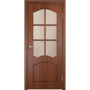 Дверь VERDA Лидия остекленная 1900х550 ПВХ Итальянский орех дверь verda неаполь 2 остекленная 1900х550 пвх итальянский орех