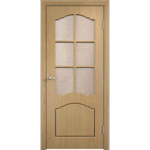 Дверь VERDA Лидия остекленная 1900х600 ПВХ Дуб уголок пвх rico moulding 20х20х2700мм дуб коньячный