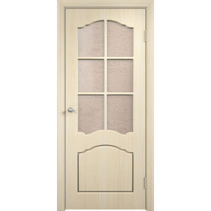 Дверь VERDA Лидия остекленная 2000х800 ПВХ Дуб белёный