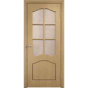 Дверь VERDA Лидия остекленная 2000х800 ПВХ Дуб