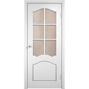 Дверь VERDA Лидия остекленная 2000х900 ПВХ Белый дверь verda каролина остекленная 2000х900 шпон макоре