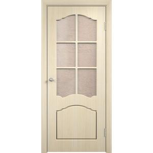 Дверь VERDA Лидия остекленная 2000х900 ПВХ Дуб белёный дверь verda стиль глухая 2000х900 шпон дуб белёный
