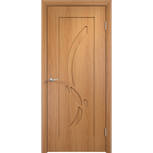 Дверь VERDA Милена глухая 1900х600 ПВХ Миланский орех дверь verda каролина глухая 2000х900 шпон дуб