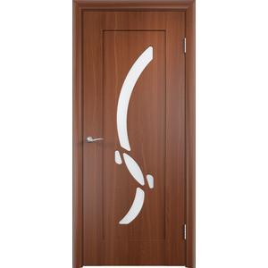 Дверь VERDA Милена остекленная 1900х600 ПВХ Итальянский орех левая