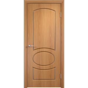 Дверь VERDA Неаполь глухая 1900х600 ПВХ Миланский орех дверь verda каролина глухая 2000х900 шпон дуб