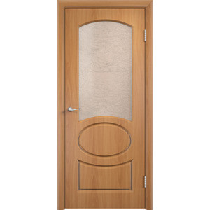 Дверь VERDA Неаполь остекленная 1900х550 ПВХ Миланский орех дверь verda вираж остекленная 1900х550 пвх миланский орех
