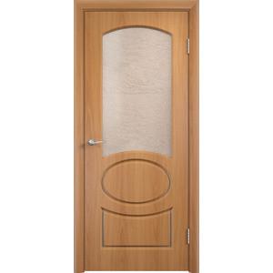 Дверь VERDA Неаполь остекленная 1900х600 ПВХ Миланский орех коробка дверная дпг миланский орех 600 с петлями