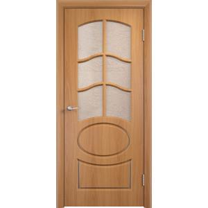 Дверь VERDA Неаполь 2 остекленная 1900х600 ПВХ Миланский орех дверь verda неаполь 2 остекленная 1900х550 пвх итальянский орех