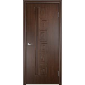 Дверь VERDA Омега глухая 2000х800 ПВХ Венге дверь verda каролина глухая 2000х900 шпон дуб
