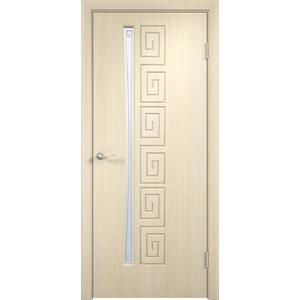 Дверь VERDA Омега остекленная 2000х600 ПВХ Дуб белёный левая дверь verda омега глухая 2000х600 пвх дуб белёный