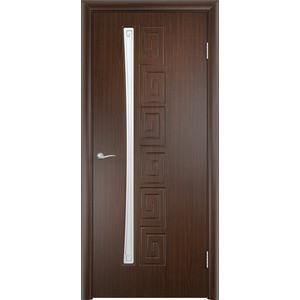 Дверь VERDA Омега остекленная 2000х900 ПВХ Венге левая дверь verda каролина глухая 2000х900 шпон дуб