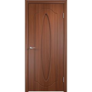 Дверь VERDA Орбита глухая 2000х600 ПВХ Итальянский орех дверь verda каролина глухая 2000х900 шпон дуб