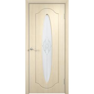 Дверь VERDA Орбита остекленная 2000х600 ПВХ Дуб белёный