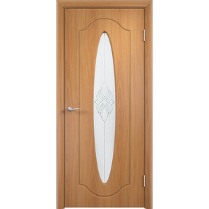 Дверь VERDA Орбита остекленная 2000х600 ПВХ Миланский орех дверь verda вираж остекленная 2000х600 пвх миланский орех