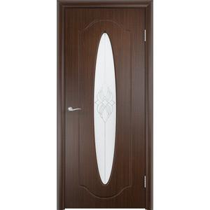 Дверь VERDA Орбита остекленная 2000х700 ПВХ Венге дверь verda вега остекленная 2000х700 шпон венге