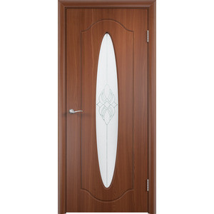 Дверь VERDA Орбита остекленная 2000х700 ПВХ Итальянский орех дверь verda неаполь 2 остекленная 1900х550 пвх итальянский орех