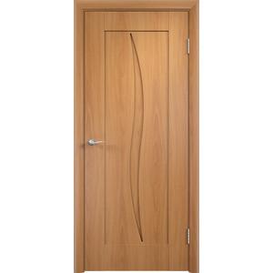 Дверь VERDA Стефани глухая 1900х600 ПВХ Миланский орех дверь verda каролина глухая 2000х900 шпон дуб