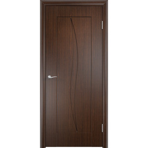 Дверь VERDA Стефани глухая 2000х700 ПВХ Венге дверь verda каролина глухая 2000х900 шпон дуб