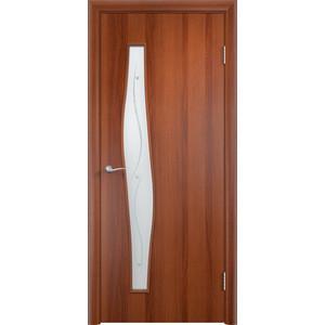 Дверь VERDA Тип С-10(Ф) остекленная 2000х600 МДФ финиш-пленка Итальянский орех пленка