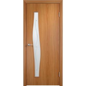 Дверь VERDA Тип С-10(Ф) остекленная 2000х600 МДФ финиш-пленка Миланский орех