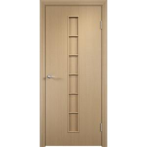 Дверь VERDA Тип С-12(г) глухая 2000х450 МДФ финиш-пленка Дуб белёный пленка