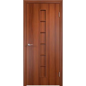 Дверь VERDA Тип С-12(г) глухая 2000х600 МДФ финиш-пленка Итальянский орех дверь verda тип с 10 г глухая 2000х600 мдф финиш пленка итальянский орех