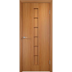 Дверь VERDA Тип С-12(г) глухая 2000х800 МДФ финиш-пленка Миланский орех дверь verda кэрол остекленная 2000х800 пвх миланский орех