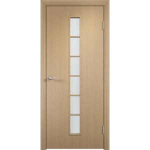 Дверь VERDA Тип С-12(о) остекленная 2000х350 МДФ финиш-пленка Дуб белёный пленка