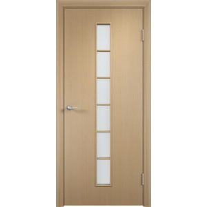 Дверь VERDA Тип С-12(о) остекленная 2000х400 МДФ финиш-пленка Дуб белёный дверь verda тип с 2 о остекленная 2000х600 мдф финиш пленка дуб белёный