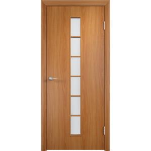 Дверь VERDA Тип С-12(о) остекленная 2000х600 МДФ финиш-пленка Миланский орех пленка