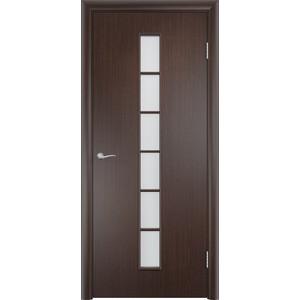 Дверь VERDA Тип С-12(о) остекленная 2000х800 МДФ финиш-пленка Венге пленка