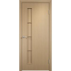 Дверь VERDA Тип С-14(г) глухая 2000х800 МДФ финиш-пленка Дуб белёный дверь verda каролина глухая 2000х900 шпон дуб