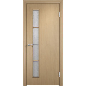 Дверь VERDA Тип С-14(о) остекленная 1900х550 МДФ финиш-пленка Дуб белёный пленка