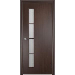 Дверь VERDA Тип С-14(о) остекленная 1900х600 МДФ финиш-пленка Венге пленка
