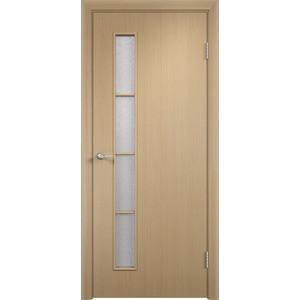 Дверь VERDA Тип С-14(о) остекленная 2000х350 МДФ финиш-пленка Дуб белёный пленка