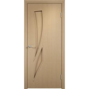 Дверь VERDA Тип С-2(г) глухая 2000х700 МДФ финиш-пленка Дуб белёный дверь verda каролина глухая 2000х900 шпон дуб