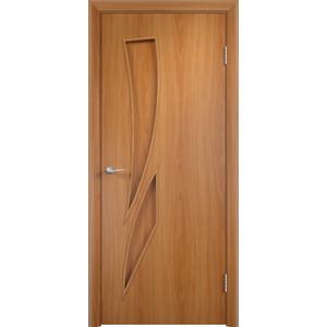 Дверь VERDA Тип С-2(г) глухая 2000х800 МДФ финиш-пленка Миланский орех дверь verda кэрол остекленная 2000х800 пвх миланский орех