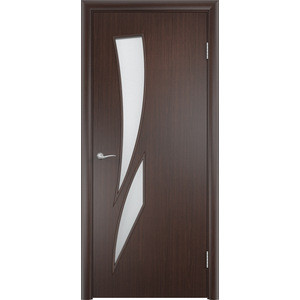 Дверь VERDA Тип С-2(о) остекленная 2000х600 МДФ финиш-пленка Венге