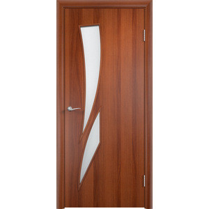 Дверь VERDA Тип С-2(о) остекленная 2000х700 МДФ финиш-пленка Итальянский орех цены