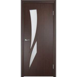 Дверь VERDA Тип С-2(о) остекленная 2000х900 МДФ финиш-пленка Венге пленка