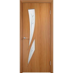 Дверь VERDA Тип С-2(Ф) остекленная 1900х600 МДФ финиш-пленка Миланский орех дверь verda тип с 7 ф остекленная 1900х600 мдф финиш пленка миланский орех