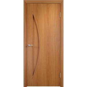Дверь VERDA Тип С-6(г) глухая 2000х800 МДФ финиш-пленка Миланский орех дверь verda кэрол остекленная 2000х800 пвх миланский орех