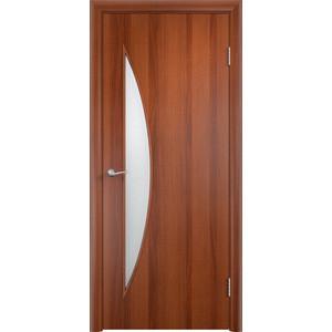 Дверь VERDA Тип С-6(о) остекленная 1900х600 МДФ финиш-пленка Итальянский орех дверь verda тип с 10 ф остекленная 1900х600 мдф финиш пленка итальянский орех