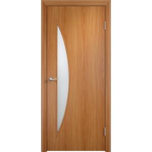 Дверь VERDA Тип С-6(о) остекленная 2000х600 МДФ финиш-пленка Миланский орех пленка